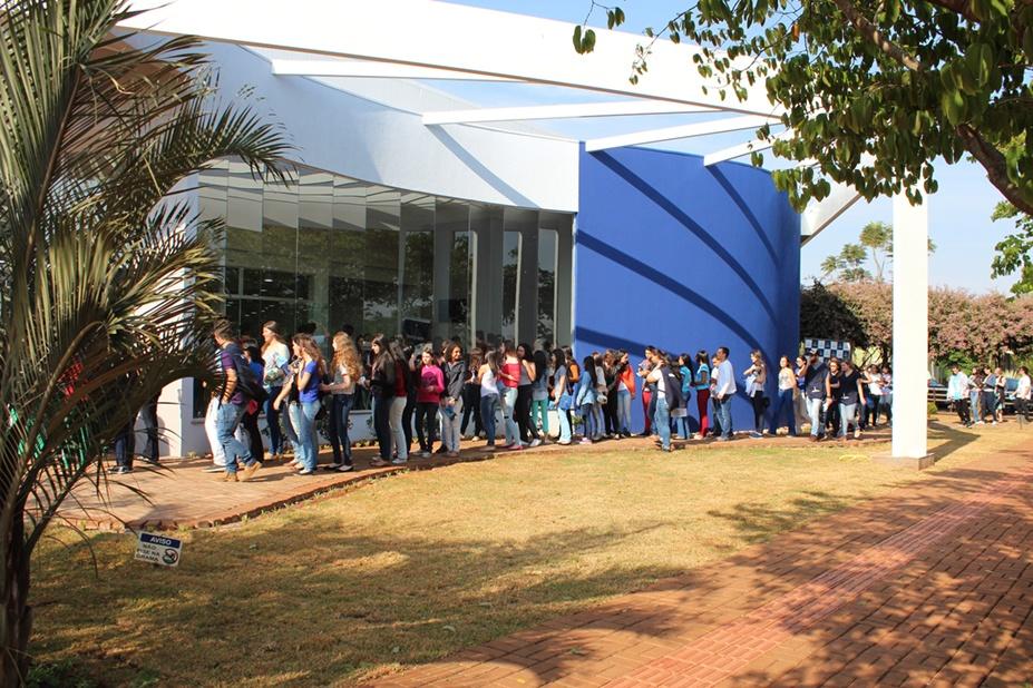 Visitantes foram recepcionados no novo auditório da Faculdade Integrado