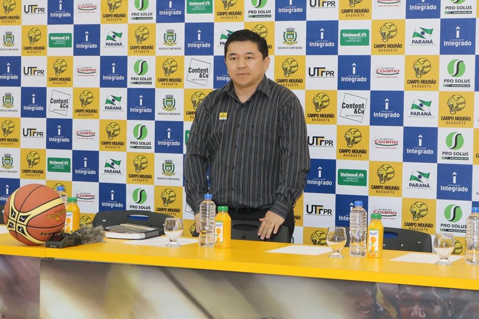 Edson China Hirata, atual presidente do Campo Mourão Basquete