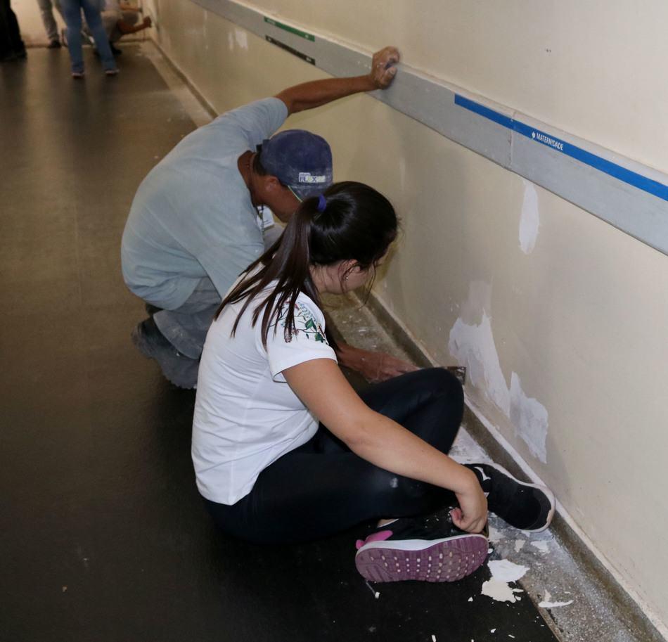 Acadêmicos realizaram diversas atividades na Santa Casa