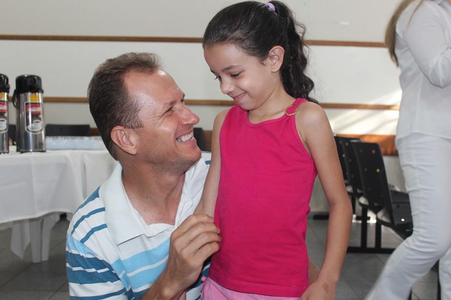 Mário, colaborador da Coamo, levou junto a filha Mariane