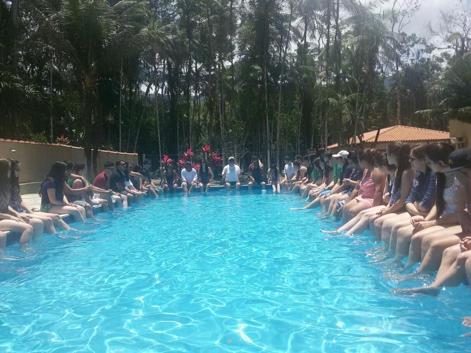 Aula na piscina