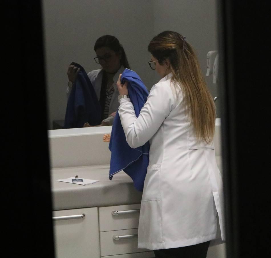 Atividade simulou situações reais de um consultório médico
