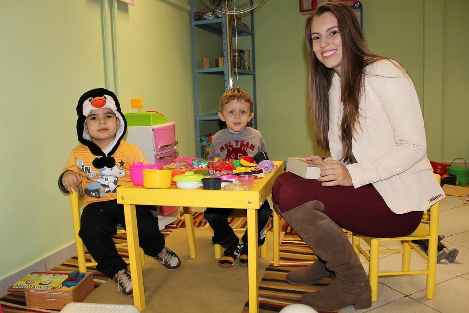 A brinquedoteca conta com três espaços que auxiliam no desenvolvimento infantil