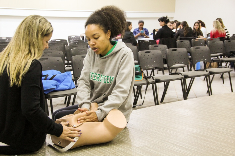 O curso de Enfermagem também participou da capacitação